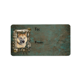 Thank You - Stone Paws - Siberian Husky Copper Dad Address Label