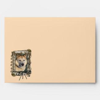 Thank You - Stone Paws - Siberian Husky - Copper Envelopes
