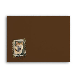Thank You - Stone Paws - Siberian Husky - Copper Envelope
