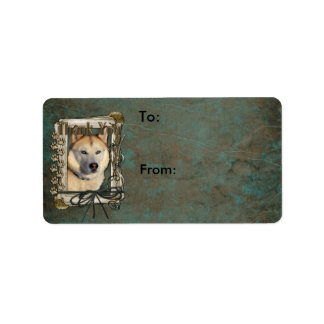 Thank You - Stone Paws - Siberian Husky - Copper Label