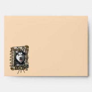 Thank You - Stone Paws - Siberian Husky - Dad Envelopes