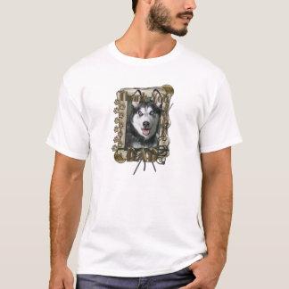 Thank You - Stone Paws - Siberian Husky - Dad T-Shirt