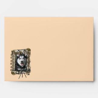 Thank You - Stone Paws - Siberian Husky Envelope