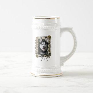 Thank You - Stone Paws - Siberian Husky Coffee Mugs