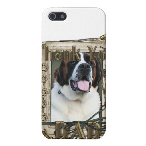 Thank You - Stone Paws - St Bernard - Mae - Dad iPhone 5/5S Case