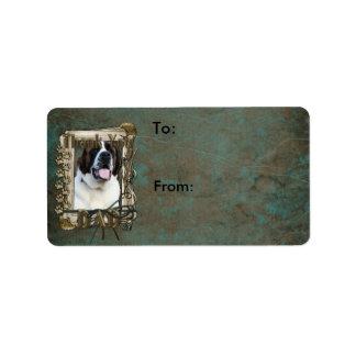 Thank You - Stone Paws - St Bernard - Mae - Dad Address Label