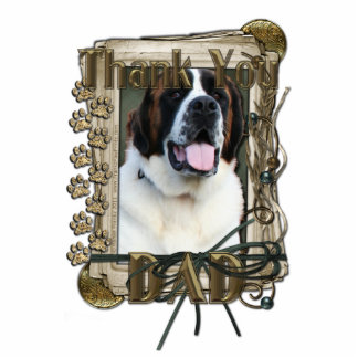 Thank You - Stone Paws - St Bernard - Mae - Dad Statuette