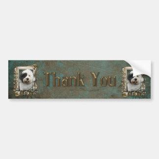 Thank You - Stone Paws - Tibetan Terrier - Dad Bumper Stickers