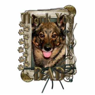 Thank You - Stone Paws - Vallhund - Dad Cutout