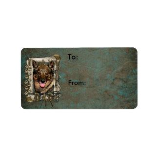Thank You - Stone Paws - Vallhund - Dad Custom Address Labels