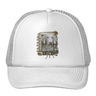 Thank You - Stone Paws - Weimeraner - Dad Mesh Hat