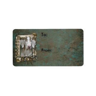Thank You - Stone Paws - Weimeraner - Dad Custom Address Labels
