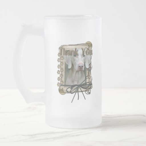Thank You - Stone Paws - Weimeraner 16 Oz Frosted Glass Beer Mug