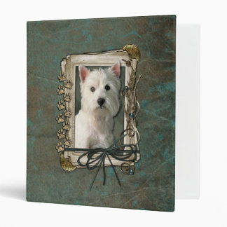 Thank You - Stone Paws - West Highland Terrier 3 Ring Binder