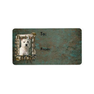 Thank You - Stone Paws - West Highland Terrier Dad Personalized Address Label