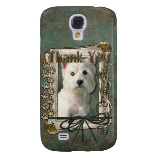 Thank You - Stone Paws - West Highland Terrier Galaxy S4 Cover