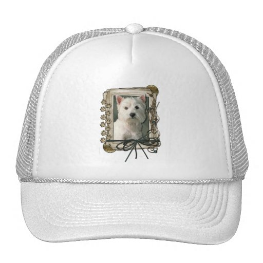 Thank You - Stone Paws - West Highland Terrier Mesh Hat
