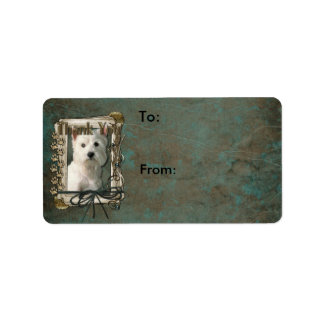 Thank You - Stone Paws - West Highland Terrier Label