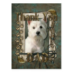 Thank You - Stone Paws - West Highland Terrier Post Card