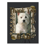 Thank You - Stone Paws - West Highland Terrier Post Cards
