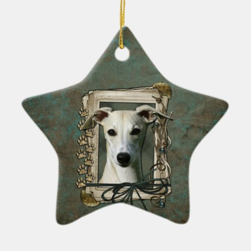 Thank You - Stone Paws - Whippet Christmas Ornaments