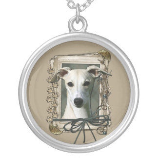 Thank You - Stone Paws - Whippet Round Pendant Necklace