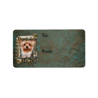 Thank You - Stone Paws - Yorkshire Terrier - Dad Custom Address Label