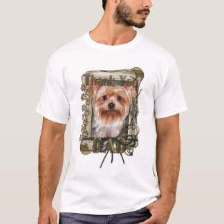 Thank You - Stone Paws - Yorkshire Terrier - Dad T-Shirt