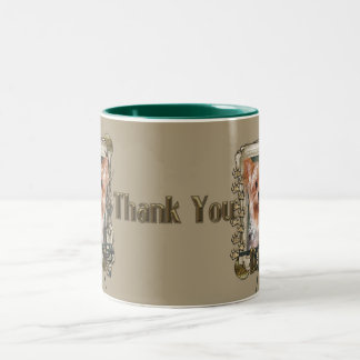 Thank You - Stone Paws - Yorkshire Terrier - Dad Two-Tone Coffee Mug