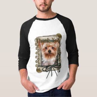 Thank You - Stone Paws - Yorkshire Terrier T-Shirt