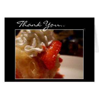 Thank You strawberry creme puff greeting card