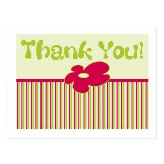 Thank You - Striped Postcard