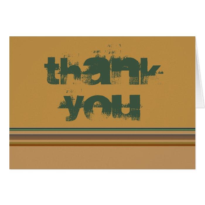 Thank You Stripes Card