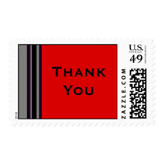Thank You stripes Postage Stamp