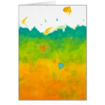 Thank you Summer Love whimsical modern art wedding Stationery Note Card