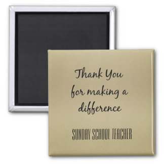 Thank You Sunday School Teacher 2 Inch Square Magnet