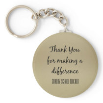 Thank You Sunday School Teacher Keychain