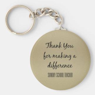 Thank You Sunday School Teacher Keychain