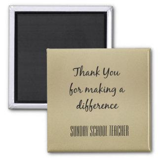 Thank You Sunday School Teacher Magnet