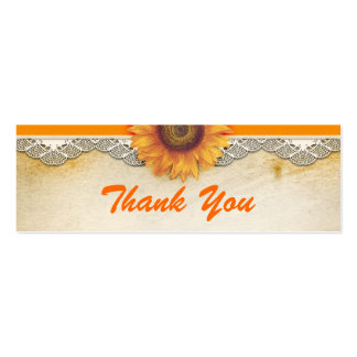 thank you sunflower cards mini business card