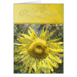 Thank You Sunflower Greeting Card