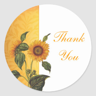 thank you sunflower stickers
