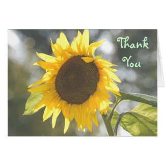 Thank You - Sunflower Thank You Greeting Card
