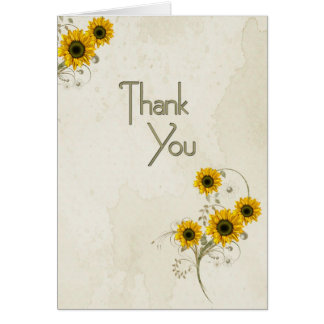 Thank You Sunflowers Card