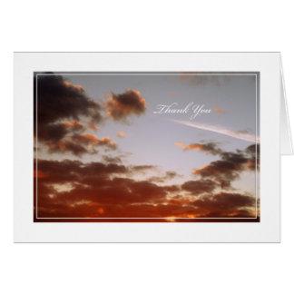 Thank You Sunset Card