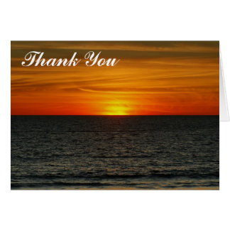 Thank You - Sunset Card