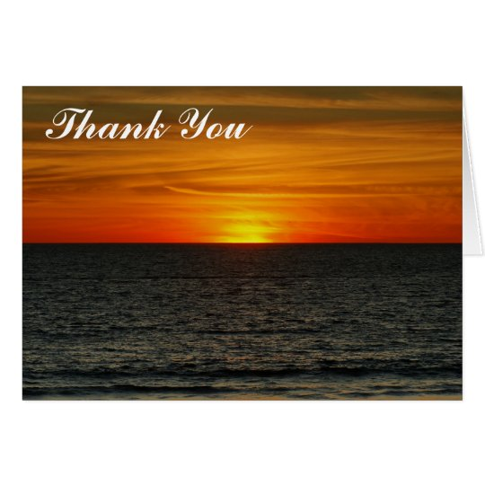 Thank You - Sunset Card