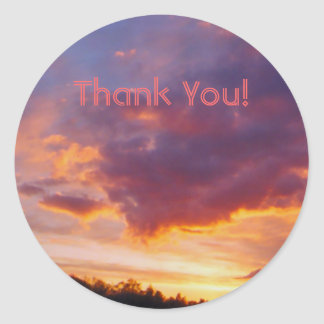 Thank You Sunset Sticker