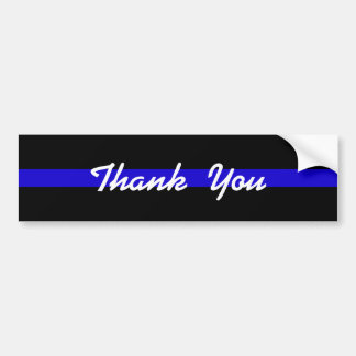 THANK YOU SUPPORT POLICE BUMPER STICKER