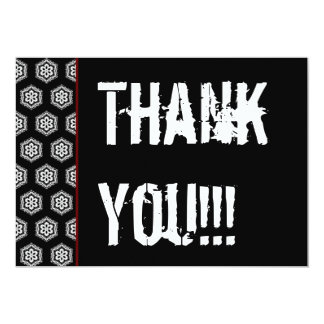 Thank You Surprise Party Black White Red V301 Card